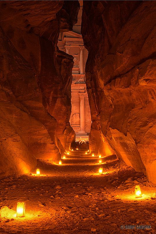 Candlelit Petra, The Treasury, Petra, Jordan