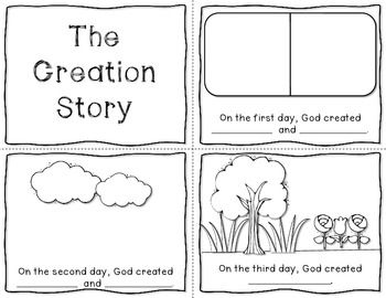 sunday school coloring pages creation - the creation story mini book freebie bible craft