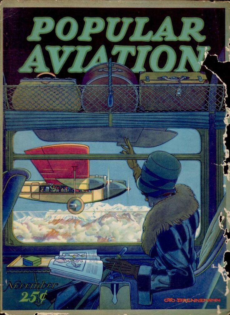 Flying Magazine's November 1928 Cover #vintage #aviation #flying