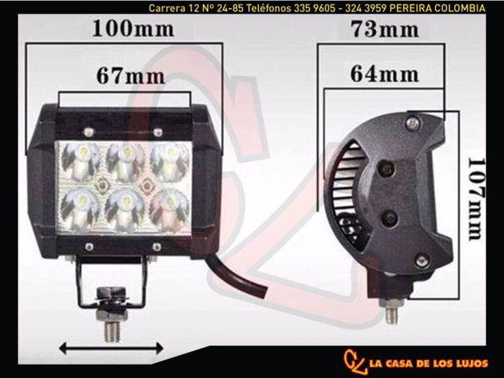 """Exploradoras 18w Led   - Hecho del alto grado de aluminio Die Cast.   - Prima PMMA Material de la lente   - Amplia gama de voltaje de funcionamiento 10-30v DC   - 100% más brillante que la luz de halógeno o HID (LED: lumen 1260 vs halógena: 700 lumen)   - Fácil de instalar.  • El 100% nuevas  • El paquete incluye: 2 x 18w CREE LED Foco de trabajo con soporte de montaje y fijación de tornillo Accesorios set   • Tamaño y Dimensiones: L 3 3/4 """"x 2 W 3/8"""" x H 3 1/8 """"(97 x 61 x 79 mm)   • Color…"""