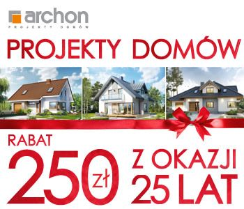 #25latARCHON - Projekty domów z rabatem 250 zł na 25-lecie ARCHON+. Zobacz najlepsze projekty domów: www.archon.pl