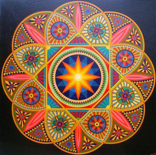 ☮ American Hippie Psychedelic Art ~ Mandala .. Sun
