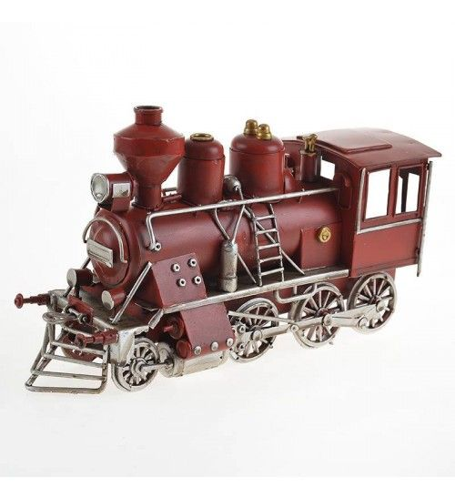 METAL TRAIN IN RED COLOR 26X8X13