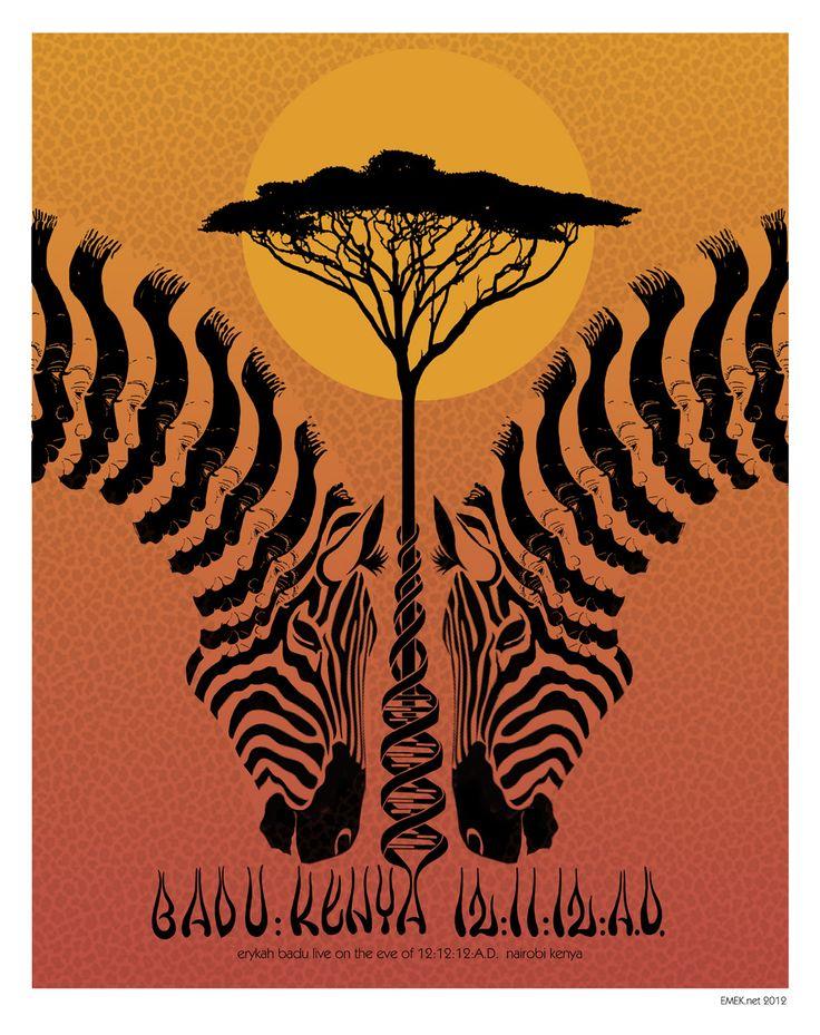 Badu in Kenya poster  #love