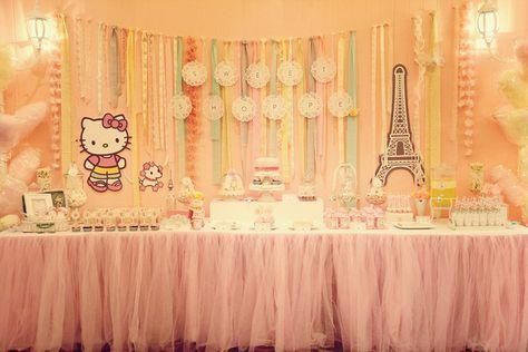 "Photo 1 of 15: Hello Kitty in Paris / Birthday ""Richelle's 1st birthday"" | Catch My Party"