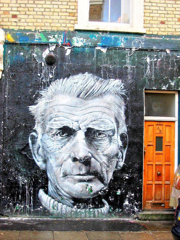 Samuel Beckett – Camden, London. | 28 Brilliant Works Of Literary Graffiti