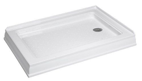 DreamLine QUAD 34 x 40 Double Threshold Shower Base by DreamLine. $338.95. DreamLine high gloss acrylic shower bases (shower receptors) may be used in a custom shower project or combined with DreamLine Shower Enclosures for a complete shower installation. All shower bases come standard with slip-resistant textured floor patterns and integrated tile flanges. Each shower base is fiberglass reinforced and comes with an opening ready for a standard compression fitting drain....