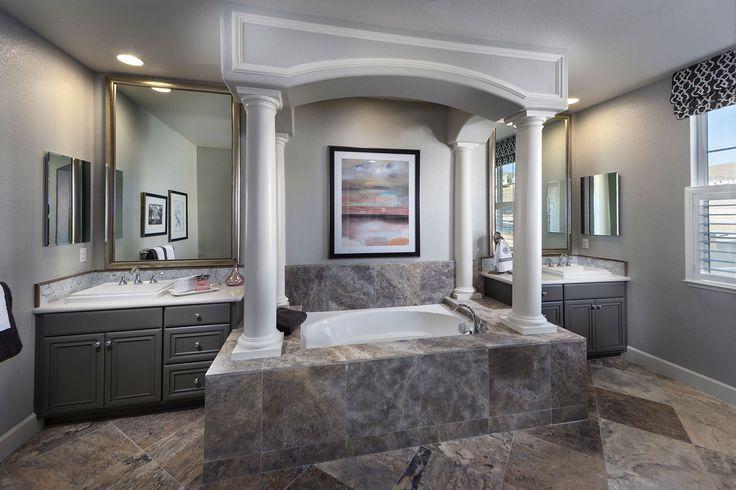 The heights at positano a kb home community in dublin ca for Bathroom ideas dublin