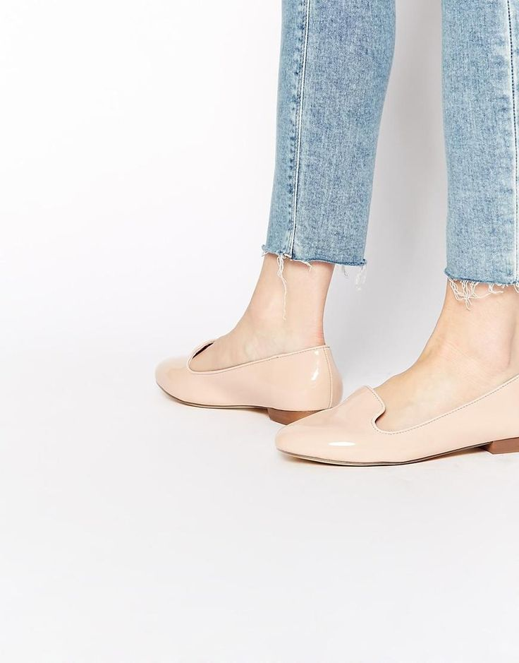 Oasis | Oasis Patent Nude Slipper Flat Shoes at ASOS