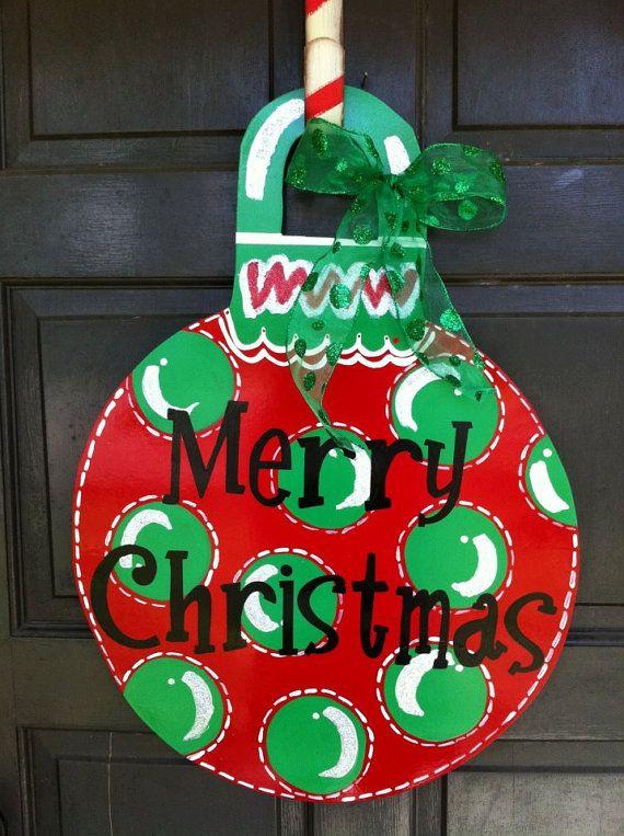 Christmas Ornament Door Hanger 40 Door Hangers Pinterest
