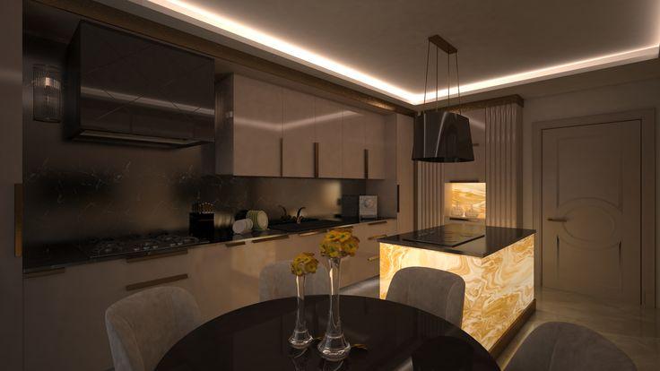 Onyx Kitchen 2 By Fadi Wardeh. 3D Max.