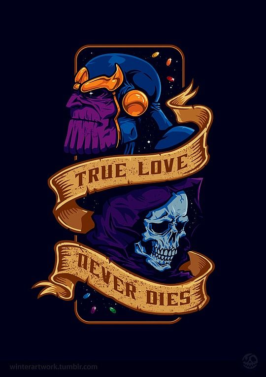 "You have to know about Thanos to understand what a horribly clever t-shirt this is. ""Awesome T-Shirt Illustrations by Winter-Artwork"""