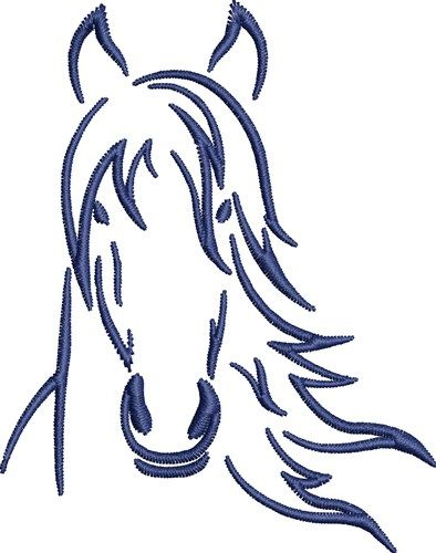 Horse Head Embroidery Design Emb Fonts Amp Designs I Have