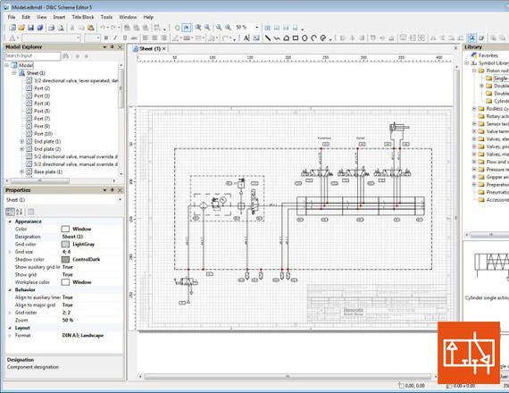 AVENTICS Scheme Editor software is available to you free of charge and allows you to intuitively create pneumatic circuit diagrams. This software helps you create standardized pneumatic circuit diagrams, from simple designs to complex projects. CAD skills are not required. Find out more at: www.aventics.co.u...