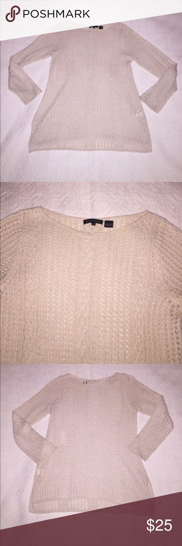 Jeanne Pierre 100% Cotton Open Weave Cream Sweater Jeanne Pierre 100% Cotton Open Weave Cream Sweater. Beautiful and Soft. Size M Jeanne Pierre Sweaters Crew & Scoop Necks