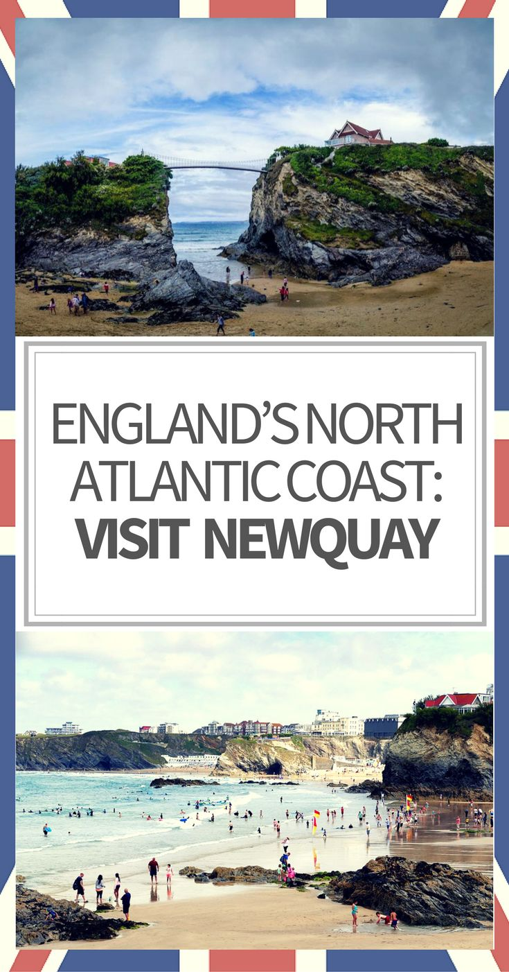 Located in Cornwall on England's North Atlantic coast, the small town of Newquay features a number of aquatic attractions aside from the beach.  Families will enjoy the Blue Reef Aquarium, and Holywell Bay Fun Park, while those who love sailing and fishing will enjoy Newquay Sea Safaris and Fishing. #england