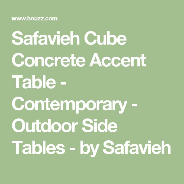 Safavieh Cube Concrete Accent Table - Contemporary - Outdoor Side Tables - by Safavieh