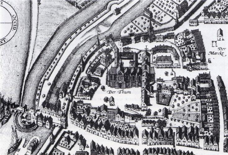 Mittelalterliche Stadt Minden, Kupferstich 1657