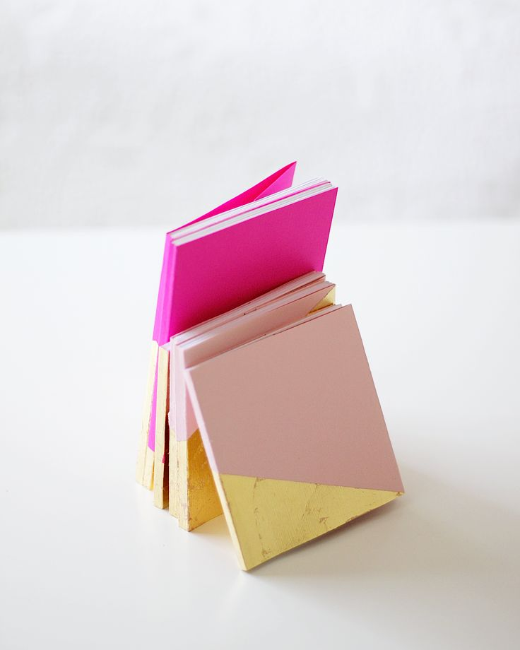 Home-made notebooks with gold leaf