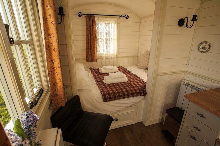Shepherd hut interior - cosy!