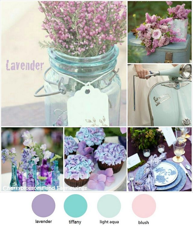 Wedding Color Series #12 : Lavender + Tiffany Blue by CBFWblog #colorpalette #weddingcolor
