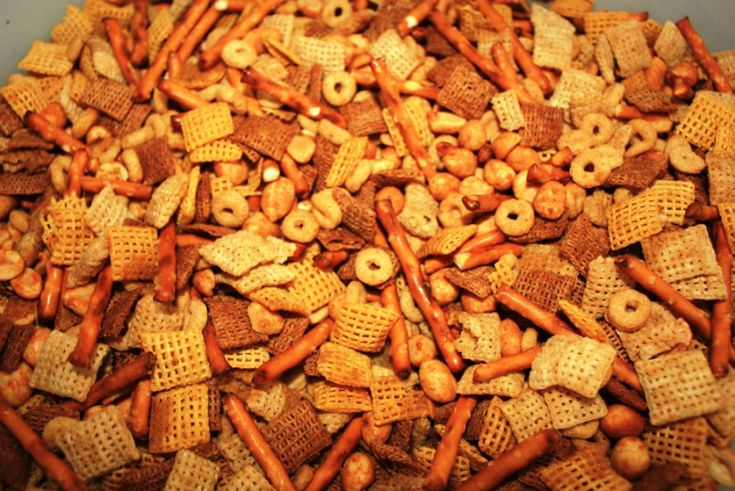 Chex Mix made gluten free: no cheerios or wheat chex. Extras of everything else. Also, use GF worcestershire and pretzels. Rice and Corn chex already GF. SO good. Very happy husband.