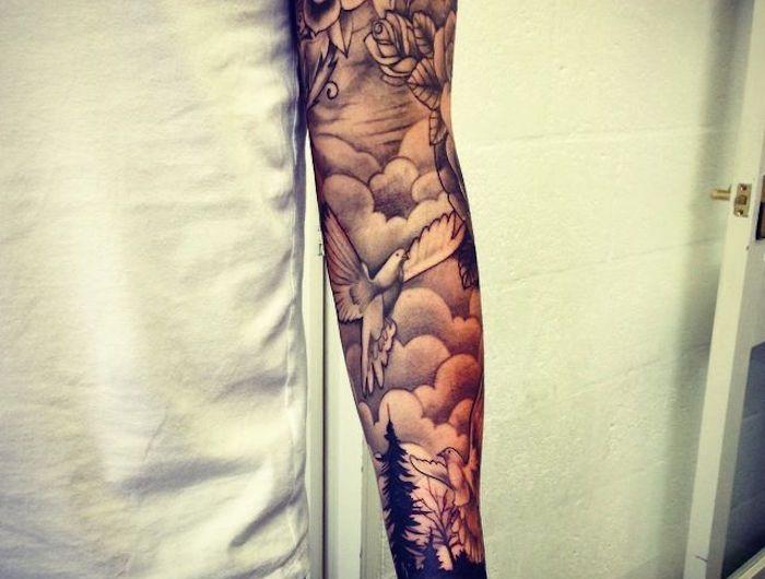 Tatouage bras entier - le tattoo version manche longue