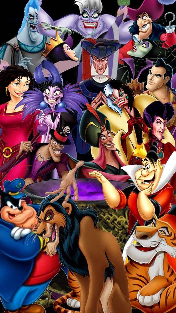 Disney Villains Wallpaper By Disneyfreak19 On Deviantart Disneyphonebackgrounds In 2020