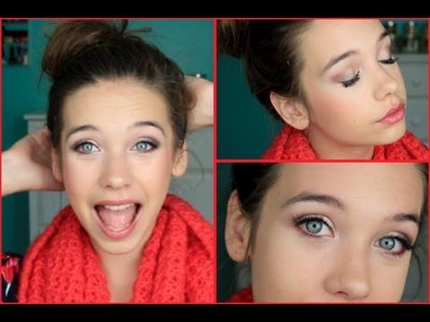 If you click on it,it's video. Gorgeous Valentine's Day makeup! Kind of dramatic on the eyes and light on the cheeks! So doing this!!