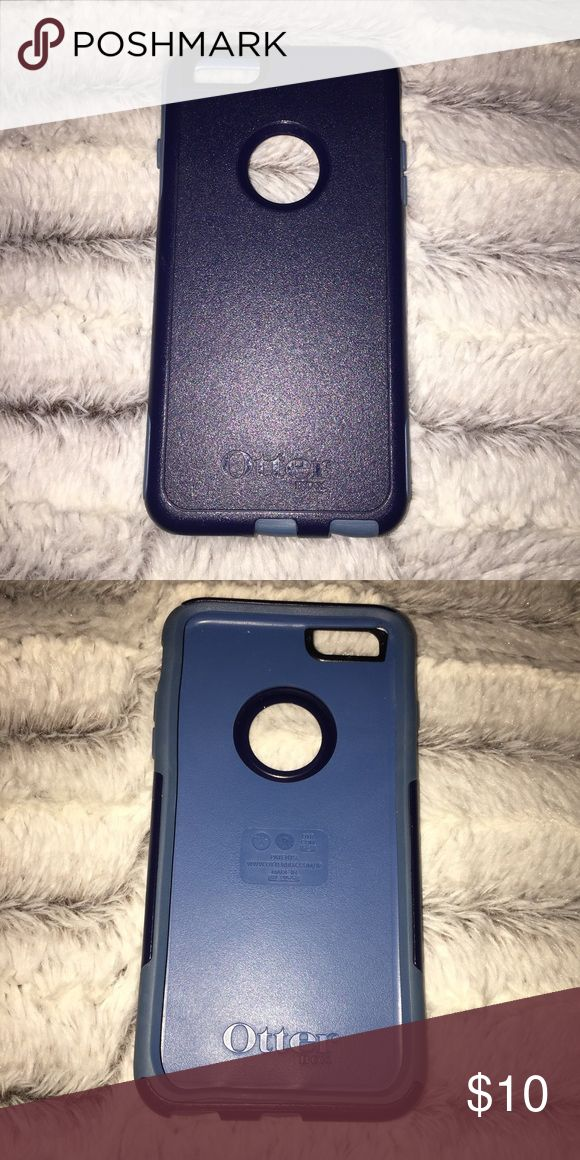 iphone six plus phone case. iphone six plus otter box case.   navy blue.   never used. OtterBox Accessories Phone Cases