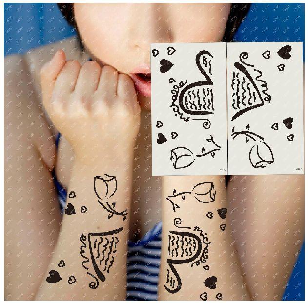 (Минимальный заказ $0.5) временные Татуировки Для Женщин Водонепроницаемый Наклейки макияж maquiagem макияж роуз сердце любви любовник татуировки WM124R