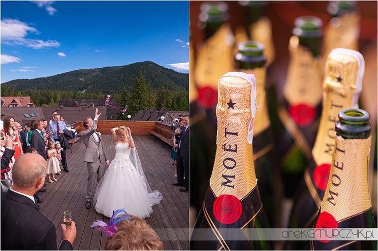 Wesele Agnieszki i Toma w Hotelu SPA Belvedere Zakopane #weddingphotography #wedding #zakopane #details #gmurczyk #moet #mountains