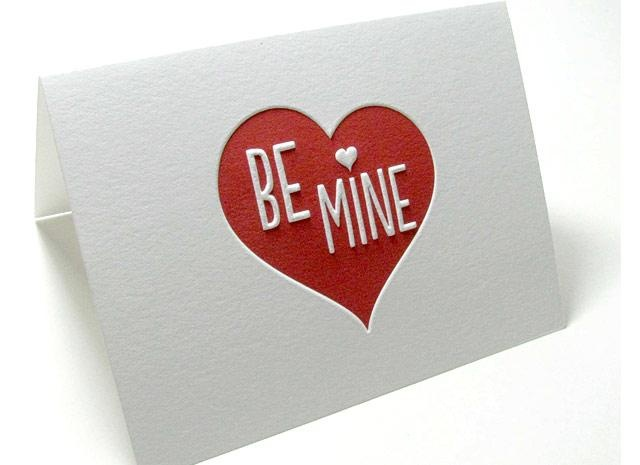 Handmade Valentine's Day card created in the Digby & Rose studio and printed by Letterpress Light.