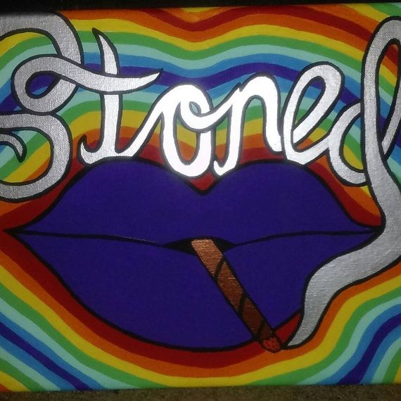 Stoned (hippie art, stoner art, trippy art, psychedelic art, abstract art, painting, art for sale, painting for sale)  Check out this item in my Etsy shop https://www.etsy.com/listing/270669480/stoned-12x14-inches-stretched-canvas