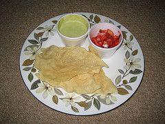 poppadom dips | Poppadom with red onion salad and mint dip from Shanas, Stockbridge ...