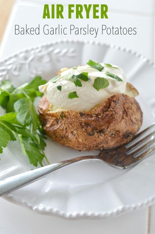 Are you ready to make the best air fryer baked potato you'll ever taste? Crispy and tasty Air Fryer Baked Potatoes. Coated in flavor! Make our Air Fryer Baked Garlic Parsley Potatoes for the best side dish recipe in just 35 minutes for your family meals.