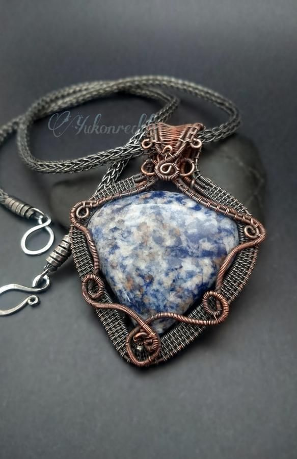 Reversible Sodalite necklace by Becca Ross