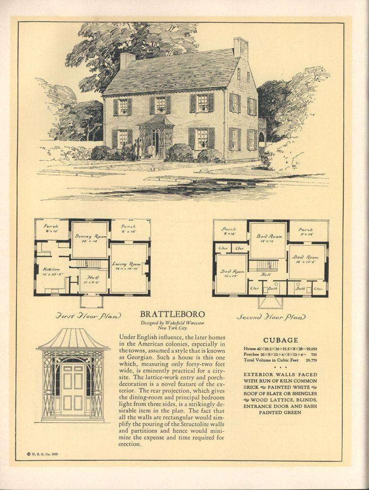 1559 best authentic house plans images on pinterest | vintage