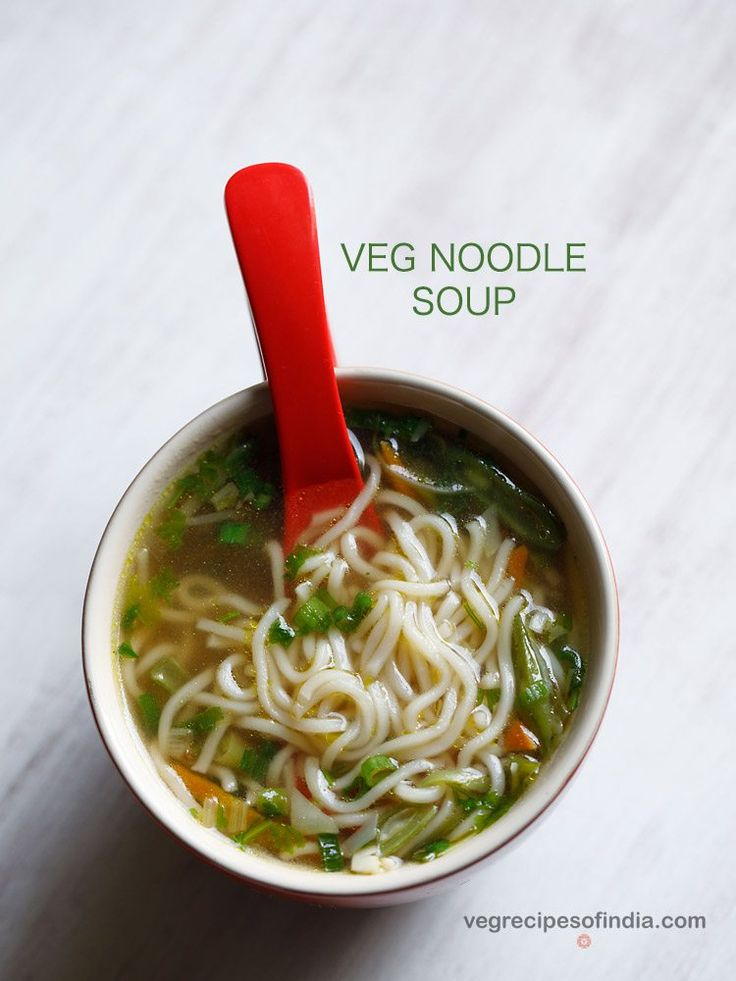 veg noodle soup. this recipe of veg noodle soup is a clear soup and is made with mix veggies and noodles.