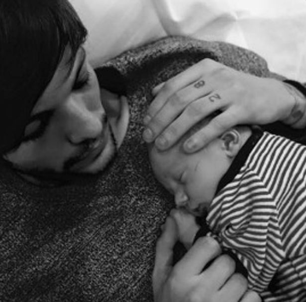 Louis Tomlinson shares pictures of his baby on social media