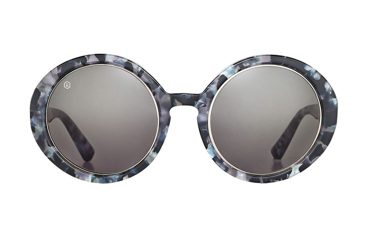 Vivien Black & White   Oversized Sunglasses   Taylor Morris Eyewear