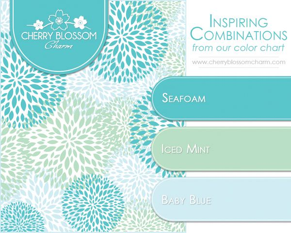 Seafoam Mint Baby Blue A Beautiful Color Combination Of