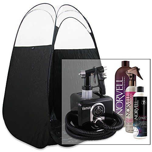 Venus Spray Tan Machine Kit with Tent & Norvell Sunless Airbrush Tanning Solution (Black)  http://www.personalcareclub.com/venus-spray-tan-machine-kit-with-tent-norvell-sunless-airbrush-tanning-solution-black/