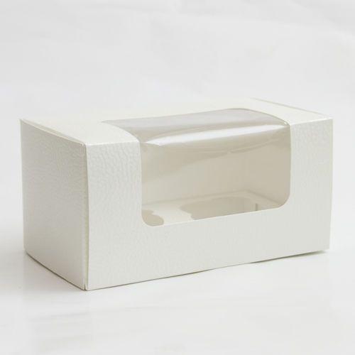 Astuccio pelle bianca 18x9x10 cm