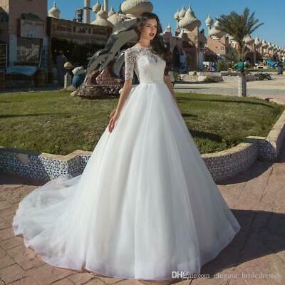 Ad (eBay Url) Modest Kurzarm Brautkleid Tüll Zug Brautkleid Custom 4 …   – Wedding and Formal Ocassion