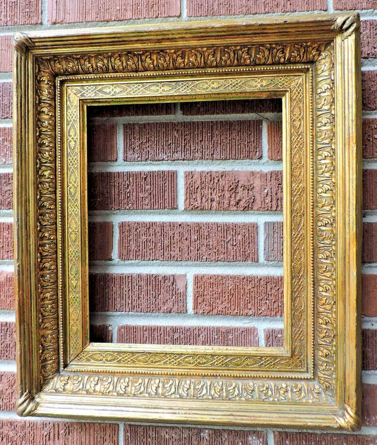 Antique 19C Ornate FRENCH SALON Picture Frame  GILT Gold Compo Wood 11 x 13.5  #Victorian #unknown