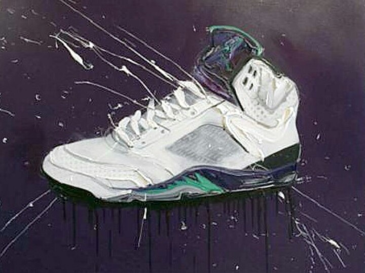 Dave White Canvas X Jordan V (Grapes)