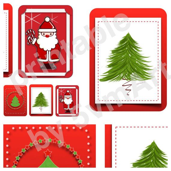 Printable Natale Card su Etsy by 5vmArt per PL o oganizer