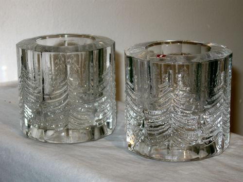 2 Iittala Finland Jorma Vennola Glass Christmas Tree Kuusi Votive Candle Holders | eBay
