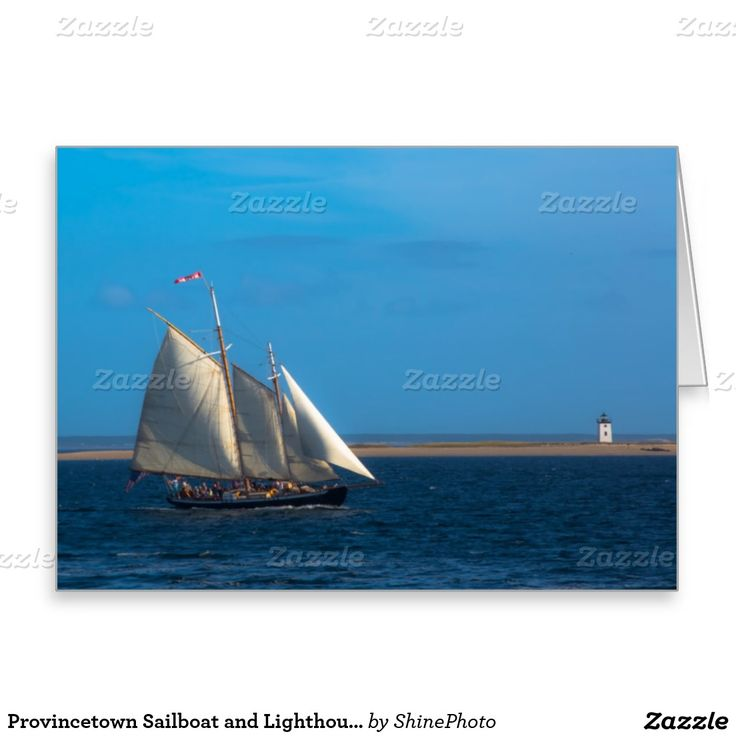 Provincetown Sailboat and Lighthouse Greeting Card